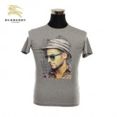 Burberry Manches Courte Col Rond T Shirt Homme Gris Uni Magasin France