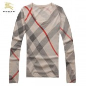 Burberry T Shirt Femme Manches Longue Col Rond Beige Outlet Londres