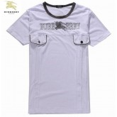 Burberry Blanc Manches Courte T Shirt Homme Col Rond Fragrance