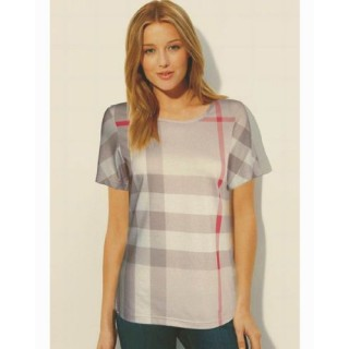 Burberry Manches Courte Col Rond T Shirt Femme Prix Foulard