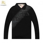 Burberry Noir Manches Longue Polo T Shirt Homme Factory Shop