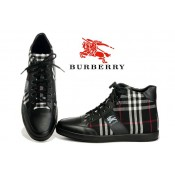 Burberry Lacets Noir Basket Montantes Chaussure Homme Foulard Style