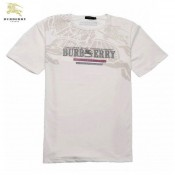 Burberry Col Rond Manches Courte Blanc T Shirt Homme Logo Cravate