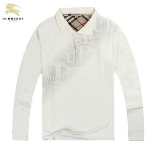 Burberry La Blanc T Shirt Homme Manches Longue Polo Outlet Store