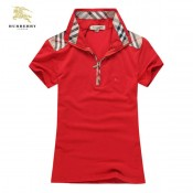 Burberry Manches Courte Rouge T Shirt Femme Polo Uni France
