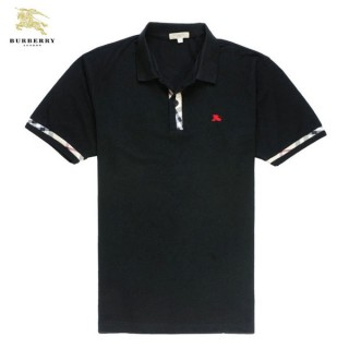 Burberry Polo T Shirt Homme Uni Noir Manches Courte Official Website