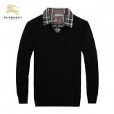 Burberry Pullover Manches Longue Pull Homme Noir Col V Magasin Lyon