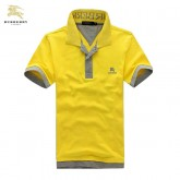 Burberry Uni Jaune Polo T Shirt Homme Manches Courte Online Shop