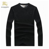 Burberry Manches Longue Pullover Noir Uni Pull Homme Madeleine