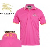 Burberry Polo Manches Courte T Shirt Homme Uni Rouge France