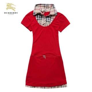 Burberry T Shirt Femme Polo Uni Rouge Manches Courte Paris Madeleine