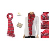 Burberry Echarpe Rouge Carreaux Foulard Solde