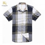 Burberry 2017 Manches Courte Chemise Homme Multicolor Recrutement