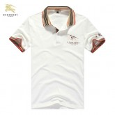 Burberry Manches Courte Polo T Shirt Homme Blanc Soldes