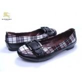 Burberry Noir Mocassin Ballerines Rayures Chaussure Femme Occasion