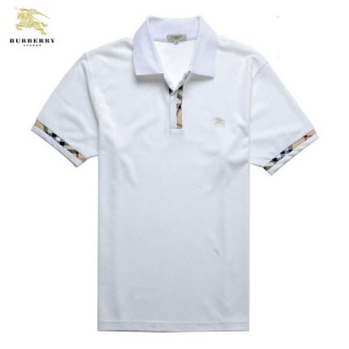 Burberry T Shirt Homme Uni Polo Blanc Manches Courte Trench Soldes
