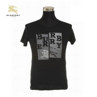 Burberry Manches Courte Noir Col Rond Uni T Shirt Homme Trench Occasion