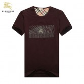Burberry Marron T Shirt Homme Col Rond Uni Manches Courte Outlet Londres
