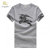Burberry Manches Courte Col Rond Serigraphie Gris T Shirt Homme En Solde