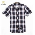 Burberry Manches Courte Chemise Homme Foulard Soie
