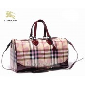 Burberry Smoked Check Sacs Tote Sac Femme Marron Outlet