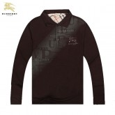 Burberry T Shirt Homme Marron Polo Manches Longue Maquillage