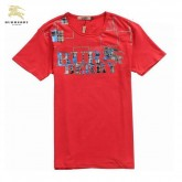 Burberry T Shirt Homme Rouge Manches Courte Col Rond Shop Online