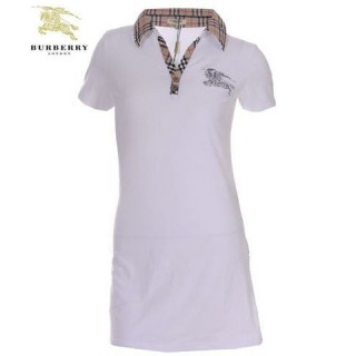 Burberry Tunique Blanc T Shirt Femme Uni Polo Porte Monnaie