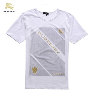 Burberry Col Rond Gris Manches Courte T Shirt Homme Logo Collection