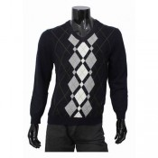 Burberry Manches Longue Pull Homme Noir Pullover Col V Magasin France