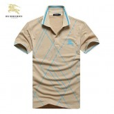 Burberry T Shirt Homme Polo Manches Courte Beige Rayures Neiman Marcus