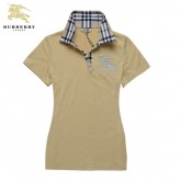 Burberrys T Shirt Femme Polo Jaune Manches Courte Factory Outlet