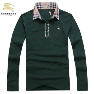 Burberrys Manches Longue Pull Homme Pullover Polo Vert Nouvelle Collection