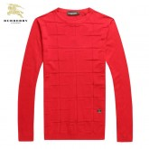 Burberrys Rouge Pull Homme Pullover Foulard Soie