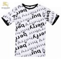 Burberrys Serigraphie Blanc Col Rond Manches Courte T Shirt Homme Foulard Style