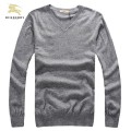 Burberrys Uni Gris Pullover Pull Homme Col V Manches Longue Magasin Bordeaux