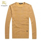 Burberry Col Rond Jaune Pull Homme Manches Longue Pullover Outlet Paris