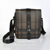 Burberry Marron Sac Homme Smoked Check Sacs à Bandoulière Magasin Lyon