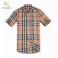 Burberry Chemise Homme Manches Courte Beige Collection