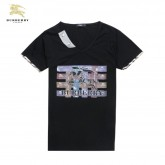 Burberry T Shirt Homme Col V Manches Courte Carreaux Montpellier