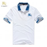 Burberry Uni Polo Manches Courte T Shirt Homme Blanc Paris Boutique