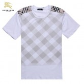Burberry Col Rond Manches Courte Gris T Shirt Homme Madeleine