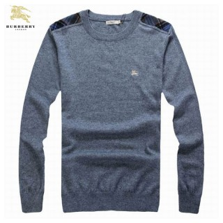 Burberry Col Rond Pull Homme Manches Longue Gris Pullover Montpellier