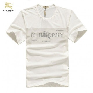 Burberry Manches Courte Col Rond Uni T Shirt Homme Blanc Outlet Store