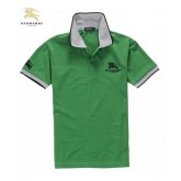 Burberry Manches Courte Polo T Shirt Homme Vert Fragrance