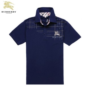 Burberry Polo T Shirt Homme Bleu Manches Courte Trench Soldes