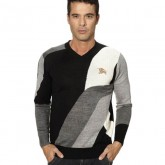Burberry Rayures Col V Pull Homme Manches Longue Pullover Prix Montre