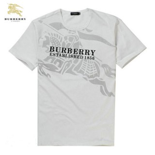 Burberry T Shirt Homme Blanc Manches Courte Col Rond Occasion