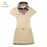 Burberry T Shirt Femme Uni Polo Beige Tunique En Solde