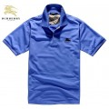 Burberry Bleu Polo Manches Courte T Shirt Homme Maquillage